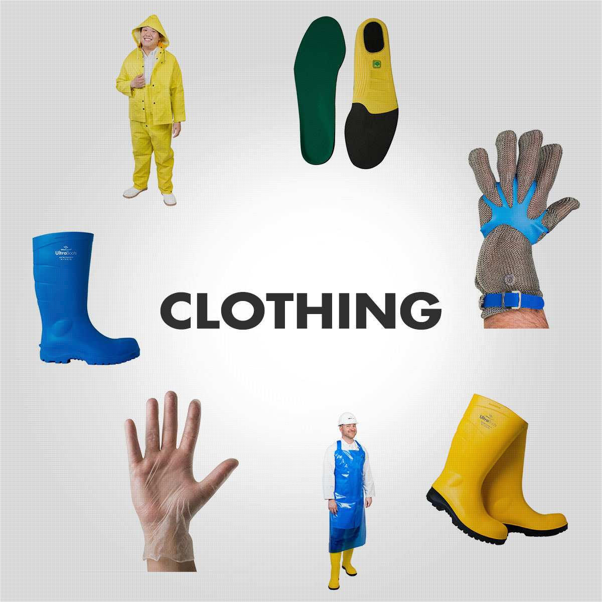 Clothing - Industrial Boots, Gloves, Aprons, Gowns, Etc.