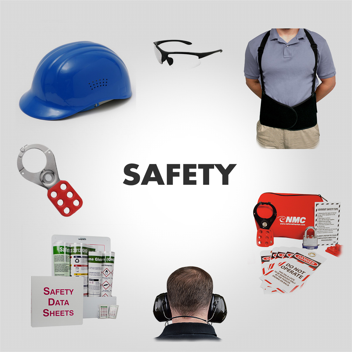 Safety Equipment - Signs, Vests, Eye, Ear, Back & Head Protection, Etc.