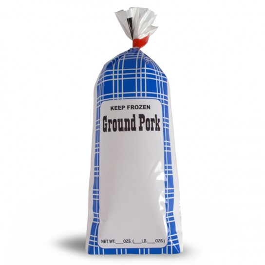 Ground Pork Meat Chub Bags - Retail 190008, 190018