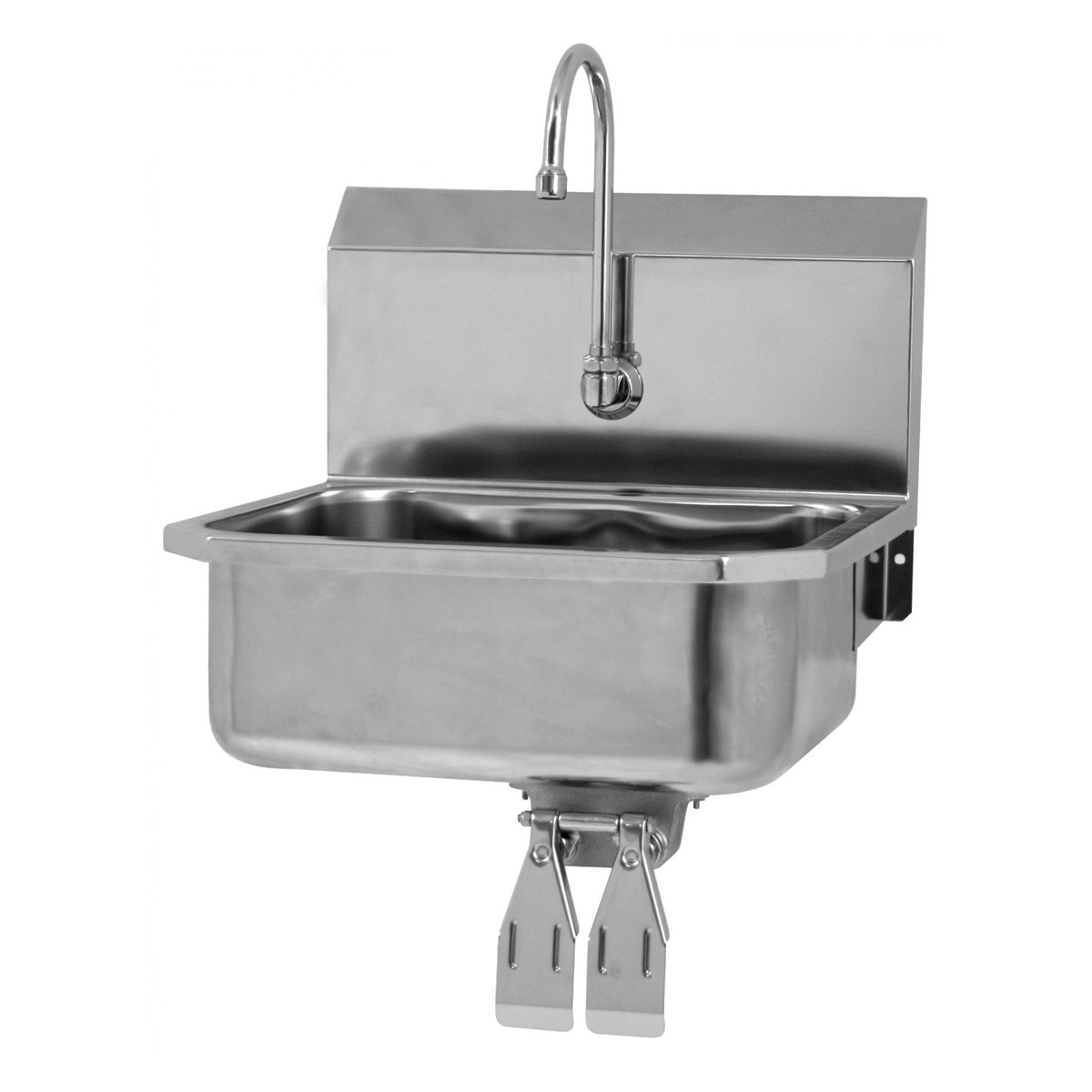 sanilav wall mount sink with knee valves