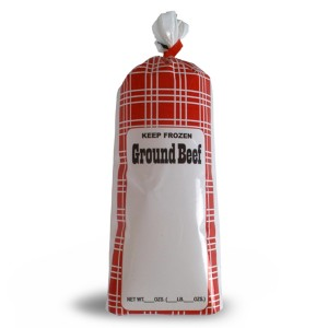 Ground Beef Meat Chub Bags - Retail - 190006 1-lb., 190016 2-lb.