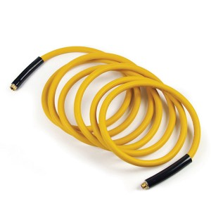 "Yellow Hot Water Hoses, 3/4"" and either 25 or 50 foot lengths"