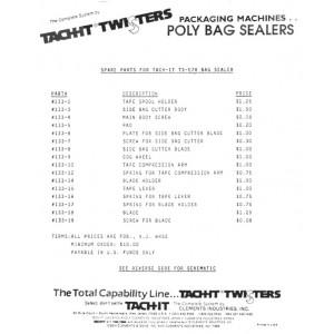 531001 Tach-It TS-E7R Poly Bag Sealer