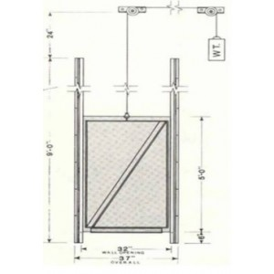 Vertical Stunning Pen Gate with Overlapping Frame