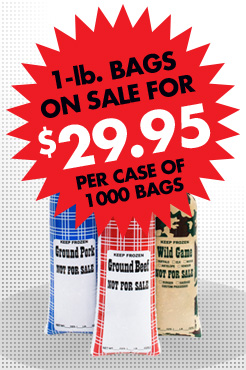Lowest price in years on poly meat chub bags!