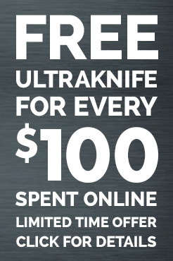 FREE UltraKnife for Every $100 Spent Per Online Order