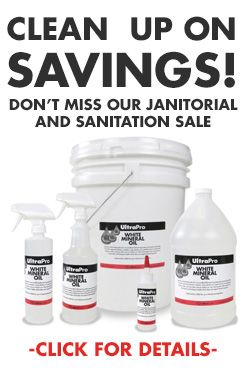 Discounts on janitorial and sanitation products!