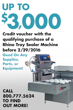 Rhino Tray Sealer Voucher Promotion