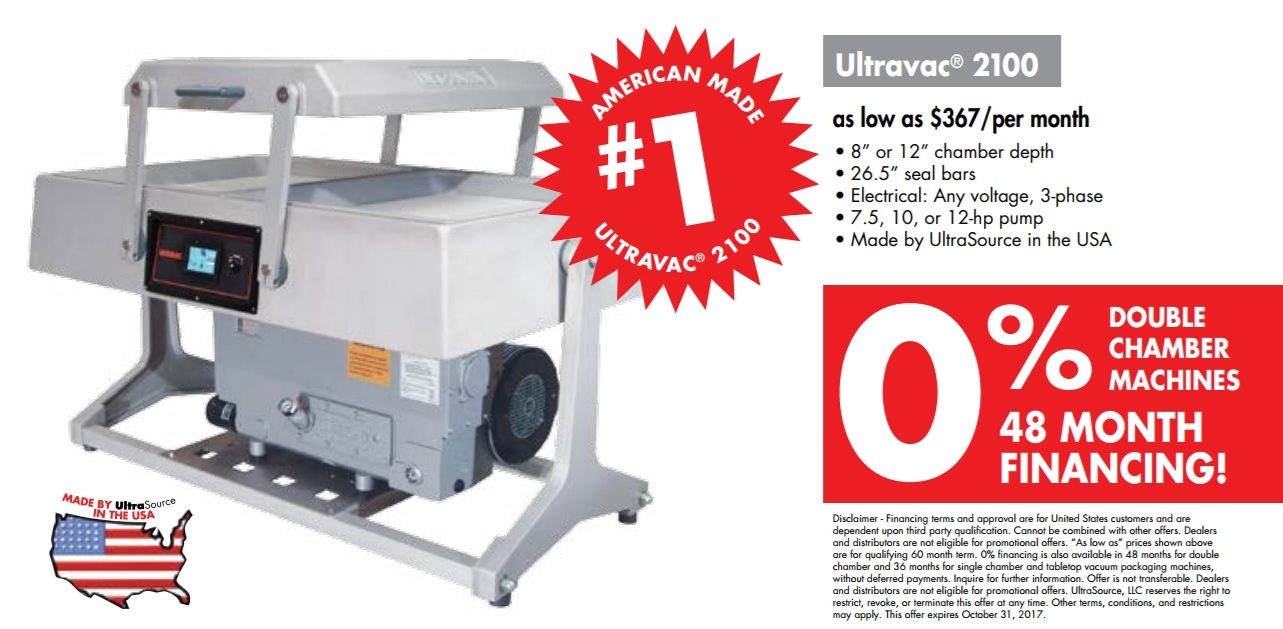 UltraSource Ultravac 2100 Double Chamber Vacuum Packaging Machine