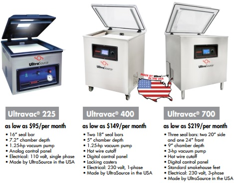 Ultravac Vacuum Chamber Packaging Machines As Low As 95 Per Month