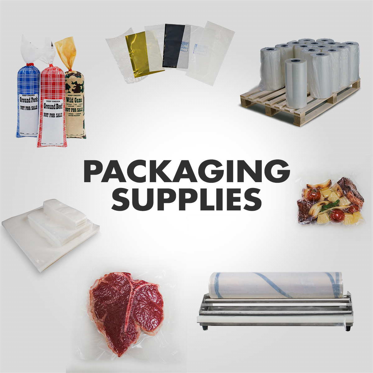 Packaging Supplies - Vacuum Pouches, Shrink Bags, Meat Chub bags, Film Rollstock