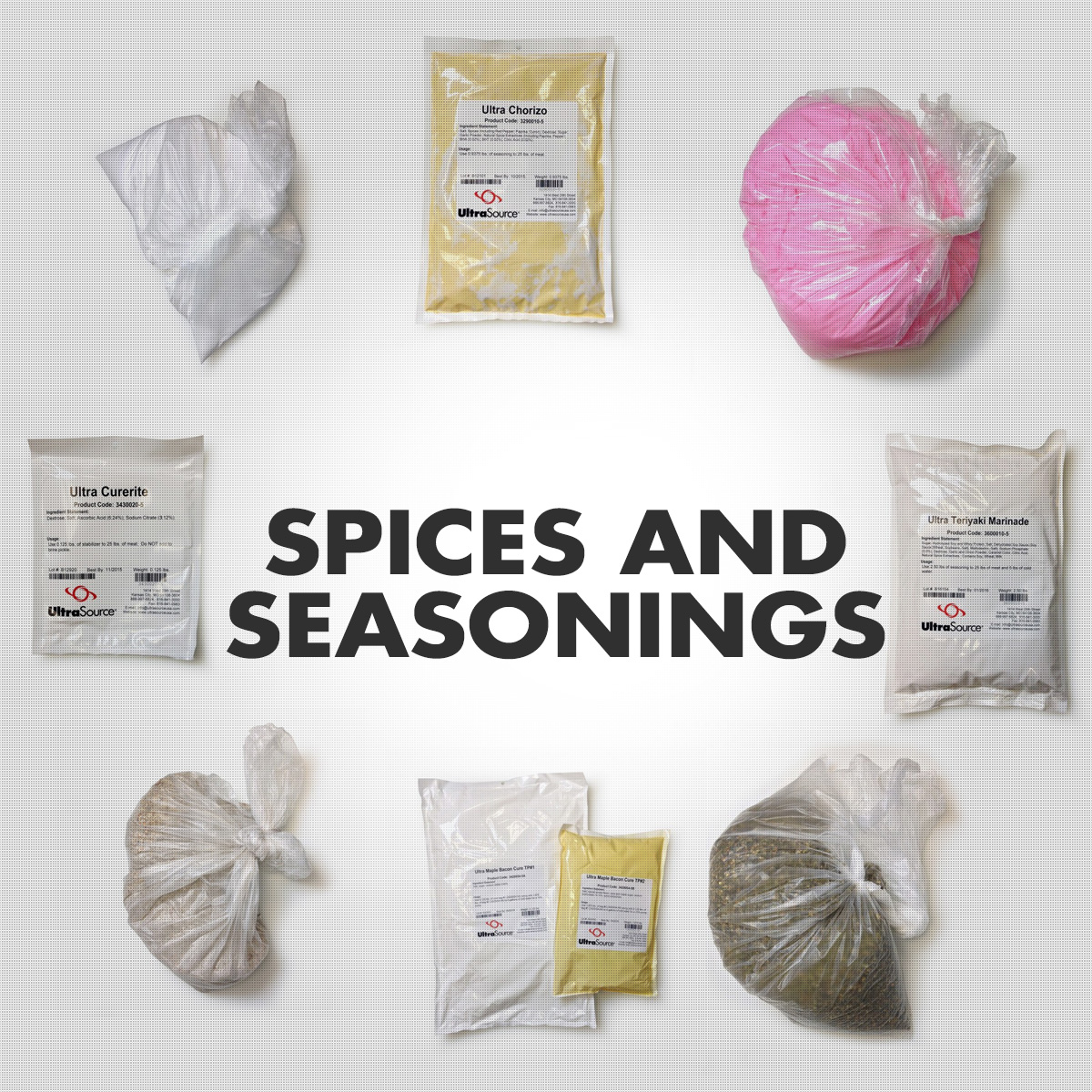 Spices and Seasonings - Bulk, Commercial Quantities.