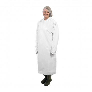 ,450061 White Pack of 100 45 UltraSource Disposable Polyethylene Gowns
