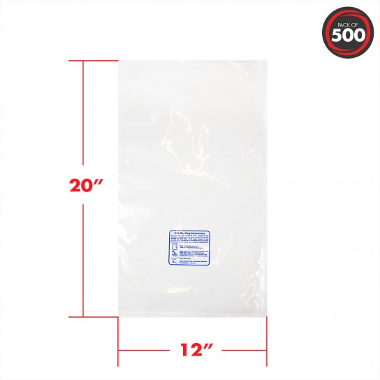 12x20 3 mil safe handling vacuum pouches