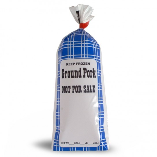 "Ground Pork Meat Chub Bags ""Not for Sale"" 190004, 190014"