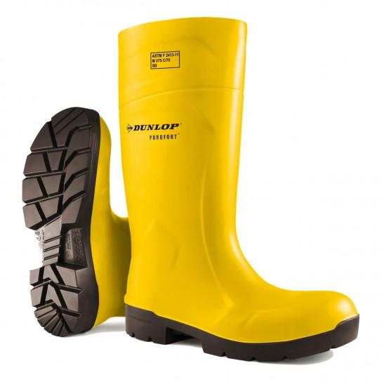 "Dunlop 14"" Purofort Full Safety Boots - Yellow"