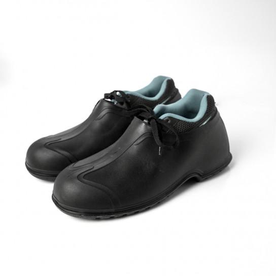 Black PVC Overshoes