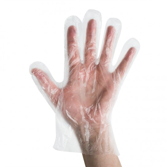 441126 Clear Polyethylene Gloves