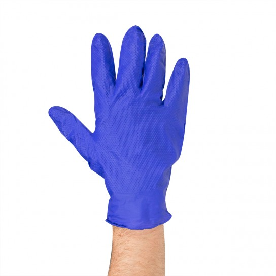 441223 5 mil Blue Nitrile Diamong Grip Gloves