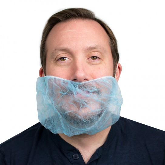 444068 Blue Polypropylene Beard Guard 1000/Case