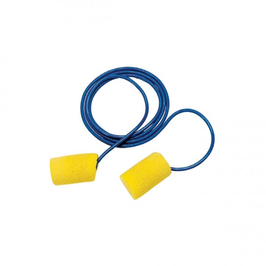 445116 Corded Disposable Tapered E-A-R Ear Plugs - Case of 200, Tapered Soft Ear Plugs