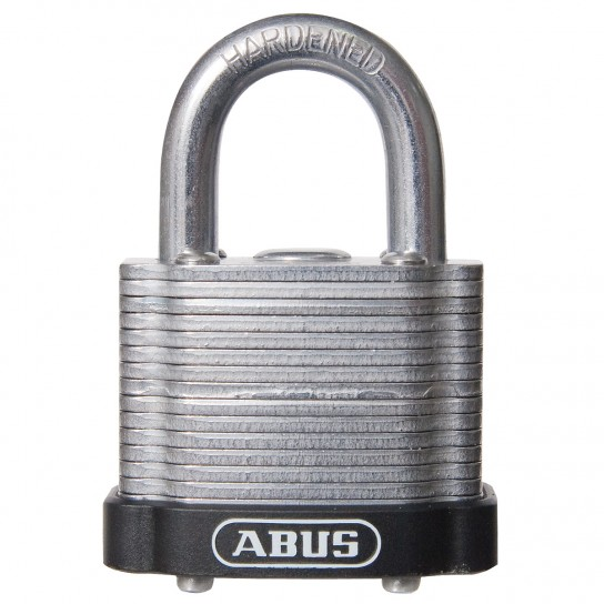 Hardened Steel Keyed Padlocks with Colored Bumpers