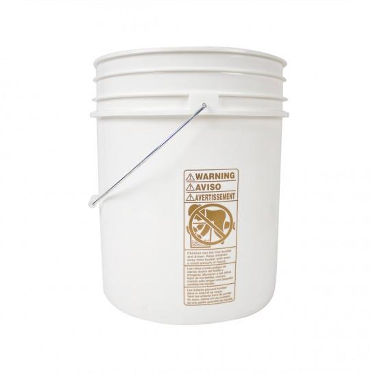 500319 White Plastic 5 Gallon Bucket