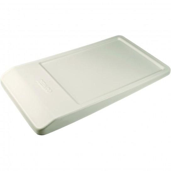 Angled Lid for Angled Dump Tub - White