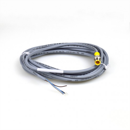 CORDSET 5 WIRE PIGTAIL MALE EURO 6M