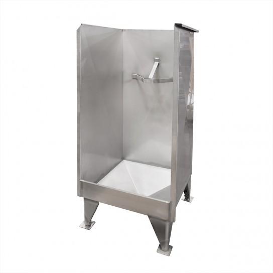 Head flushing cabinet