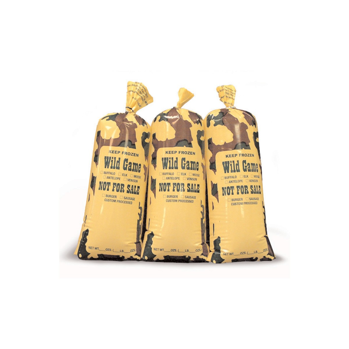 Poly Meat Bag Camo Wild Game 1lb Bags