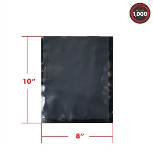8 x 10  (4 mil Black/Clear Foil Vacuum Pouches - 1,000 per case)