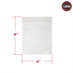 "120517, 3 mil, 6 x 8"" Resealable Zipper Vacuum Packaging Pouches, 1000 per Case"