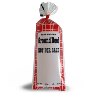 "Ground Beef Meat Chub Bags ""Not for Sale"" 190001 1-lb., 190011 2-lb., 190021 5-lb."