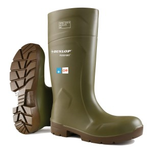 Dunlop Purofort Full Safety Boots Green