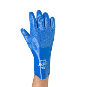 441231 28 mil Blue Nitrile Granular Grip Gloves