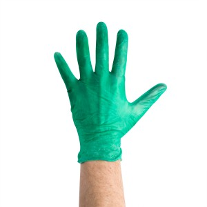 441273 Case of 400 HD Green Vinyl Powdered Gloves
