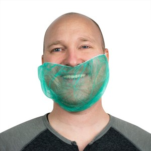 Beard Guards - Case of 1000 Spunbound Polypropylene in Green or Blue