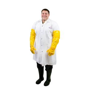 6 mil Polyurethane Sanitation Gloves - Full Arm Length