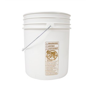White Plastic 5 Gallon Bucket