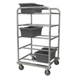 502015 Heavy Duty Aluminum Tote Cart (10 Tote Capacity)