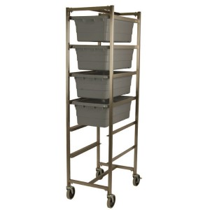Stainless Steel Knock Down Poly Tote Cart