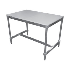 Poly Top Table with Aluminum Frame and Adjustable Feet