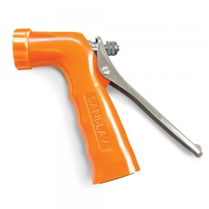 """REINFORCED SPRAY NOZZLE, ORANGE 3/4"""" GHT INLET 120PSI"""
