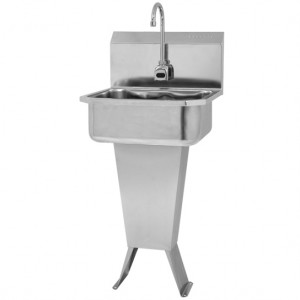 "SINK, PEDESTAL HANDS-FREE AC, 10"" DEEP"