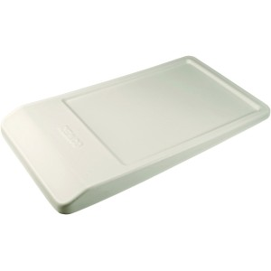 Angled Lid for Angled Dump Tub - White