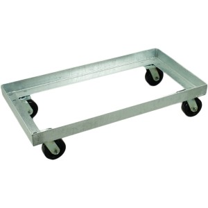 "21.6"" Width - Low Level Steel Undercarriage - Galvanized - for Rectangular Storage Tubs"