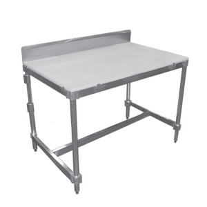 Poly Top Tables with Stainless Steel Backsplash