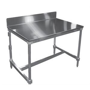Stainless Steel Top Table with Stainless Steel Backsplash