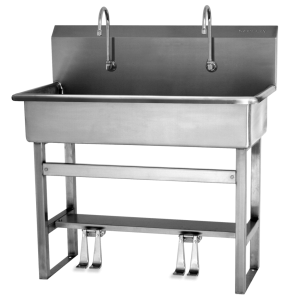 505505 Foot Operated Two Person Wash Station